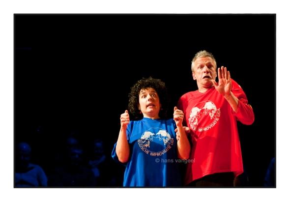 BIL - Belgische Improvisatie Liga in theater Tinnen Pot, Gent